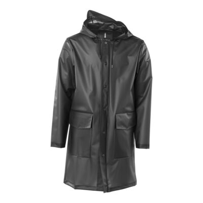 Transparent Hooded Coat – Black