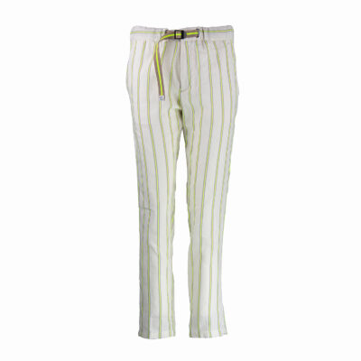 Marylin Pants  – Off White / Fluo Yellow