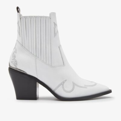 Romee Cura White Ankle Boots