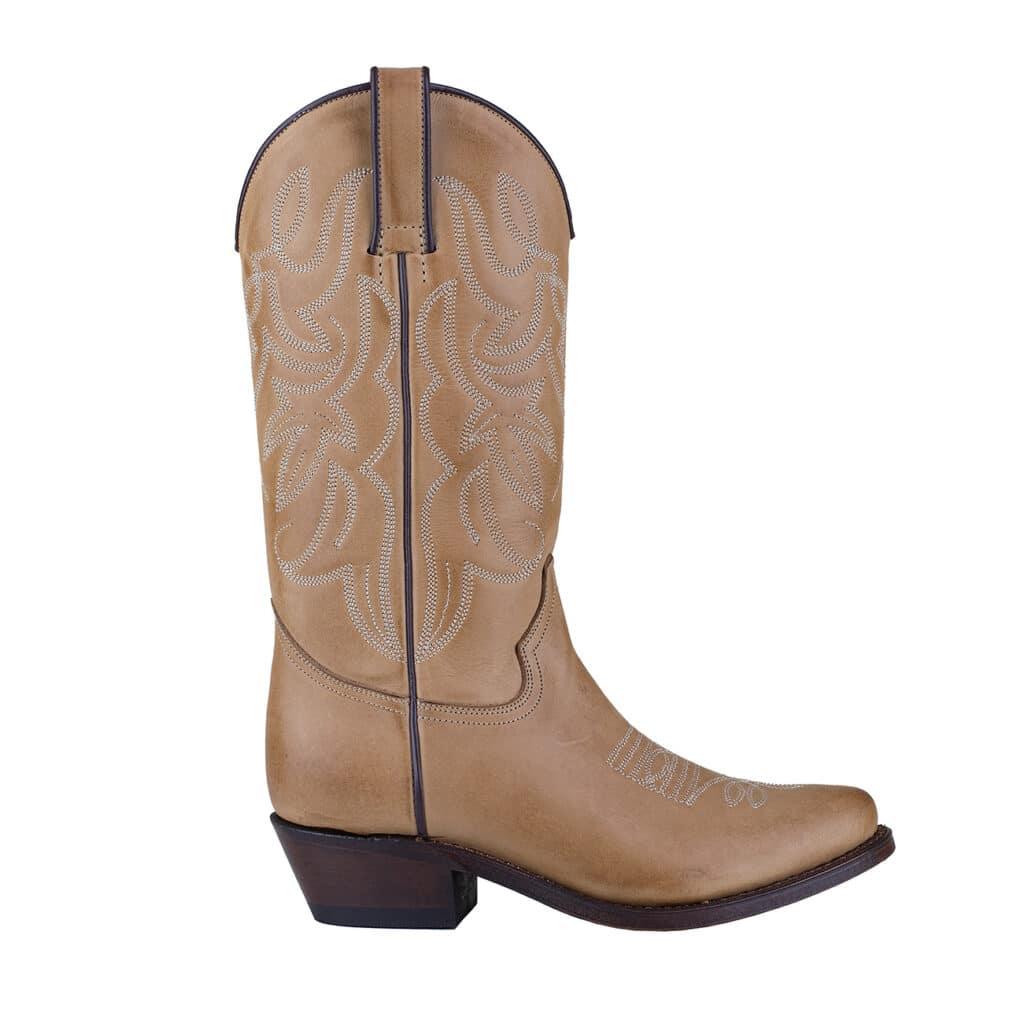 Western Boot - Tan