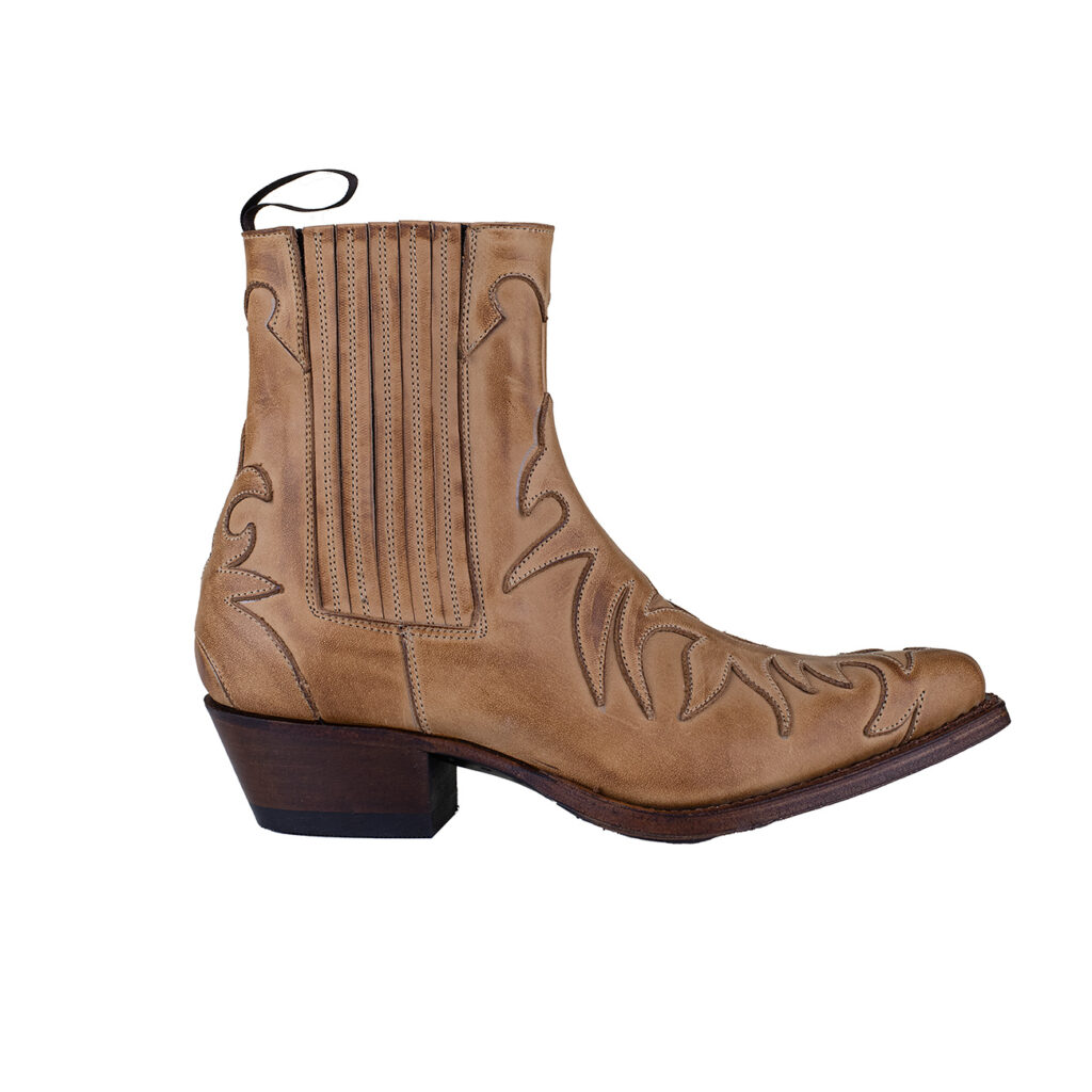 Western Ankle Boot - Tan