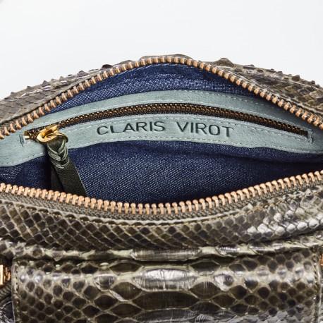 shoulder bag charly dark kaki gold chain 2