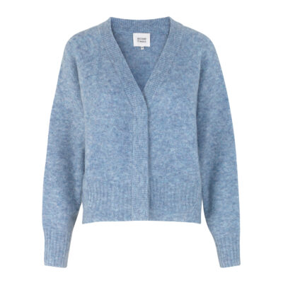 Brook Knit Boxy Cardigan – Blue