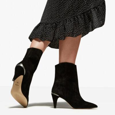 Ace Boheme Black Ankle Boots