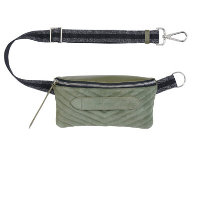 Coachella – Quilted Suede Belt Bag Khaki