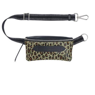 Coachella Leo Pony Effect Belt Bag Khaki