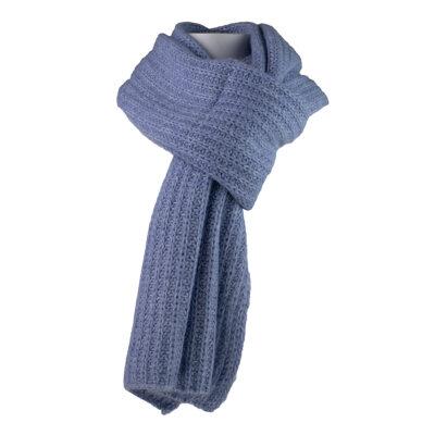 Chunky Knit Scarf Blue