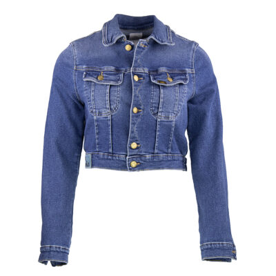 Torero Neck Jeans Jacket