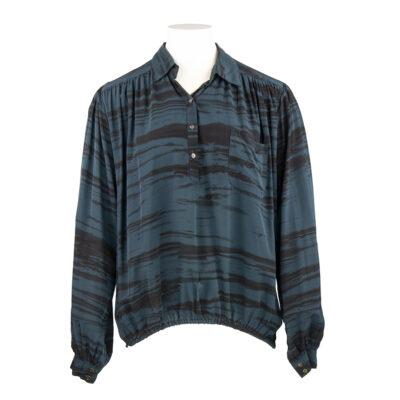 Olina – Wild Stripe Placket Shirt