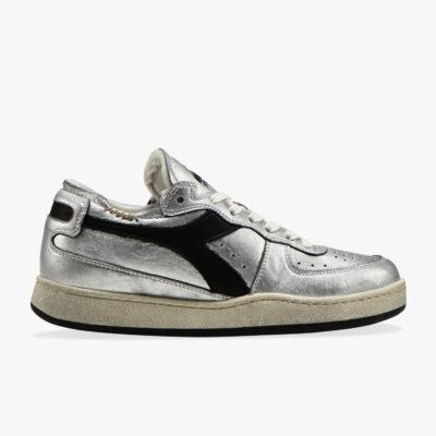 Diadora Heritage Mi Basket – Row Cut Silver Used W
