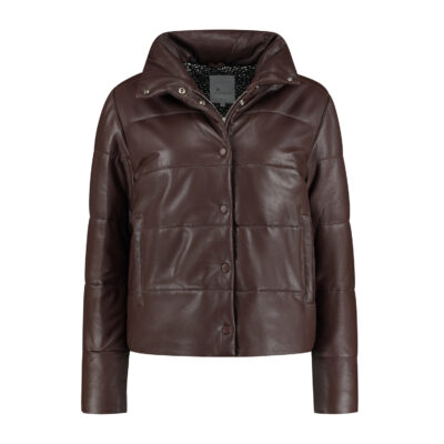 Telescopic Leather Puffer