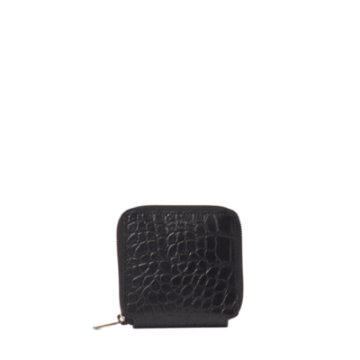 Sonny Square Wallet – Black Croco