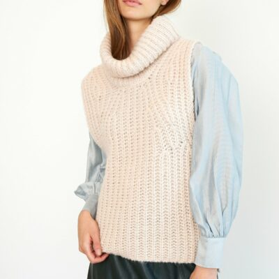 Ivory Knit Vest