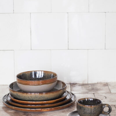 Set of 4 Surface Bread Plates Indi Grey 16cm