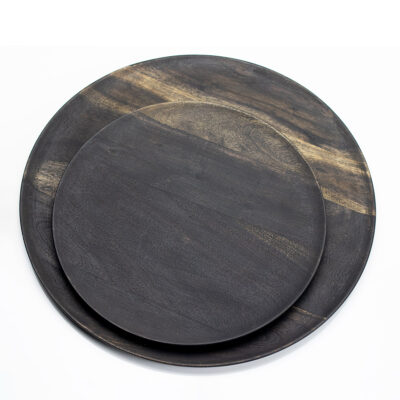 Round Acacia Wood Plate large