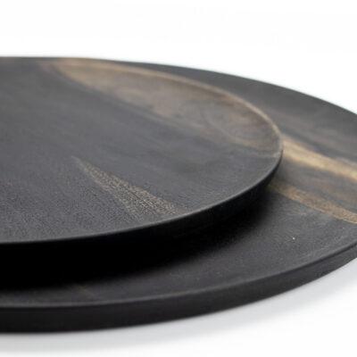 Round Acacia Wood Plate medium