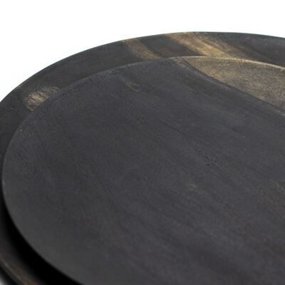 Set of 2 Acacia Wood Plates