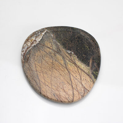 Small Brown Marble Plate