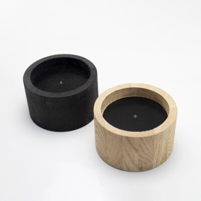 Black Oak Candle Holder