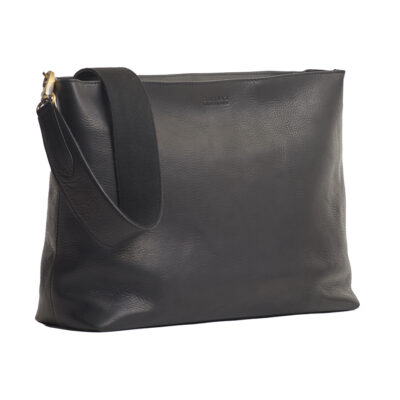 Olivia Full Leather Shoulder Strap Black