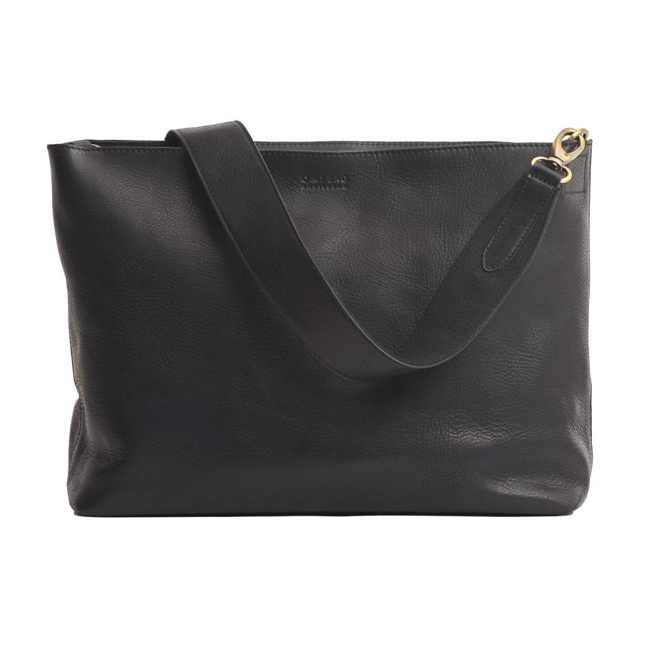 Olivia Full Leather Shoulder Strap Black
