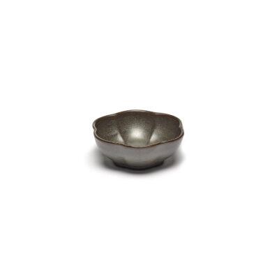 Set of 4 Inku Bowls Ribbed M Green