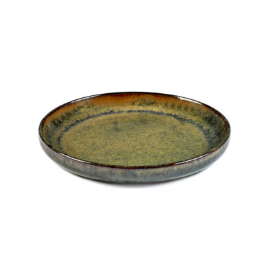 Set of 4 Surface Olive Plates Indi Grey 16cm