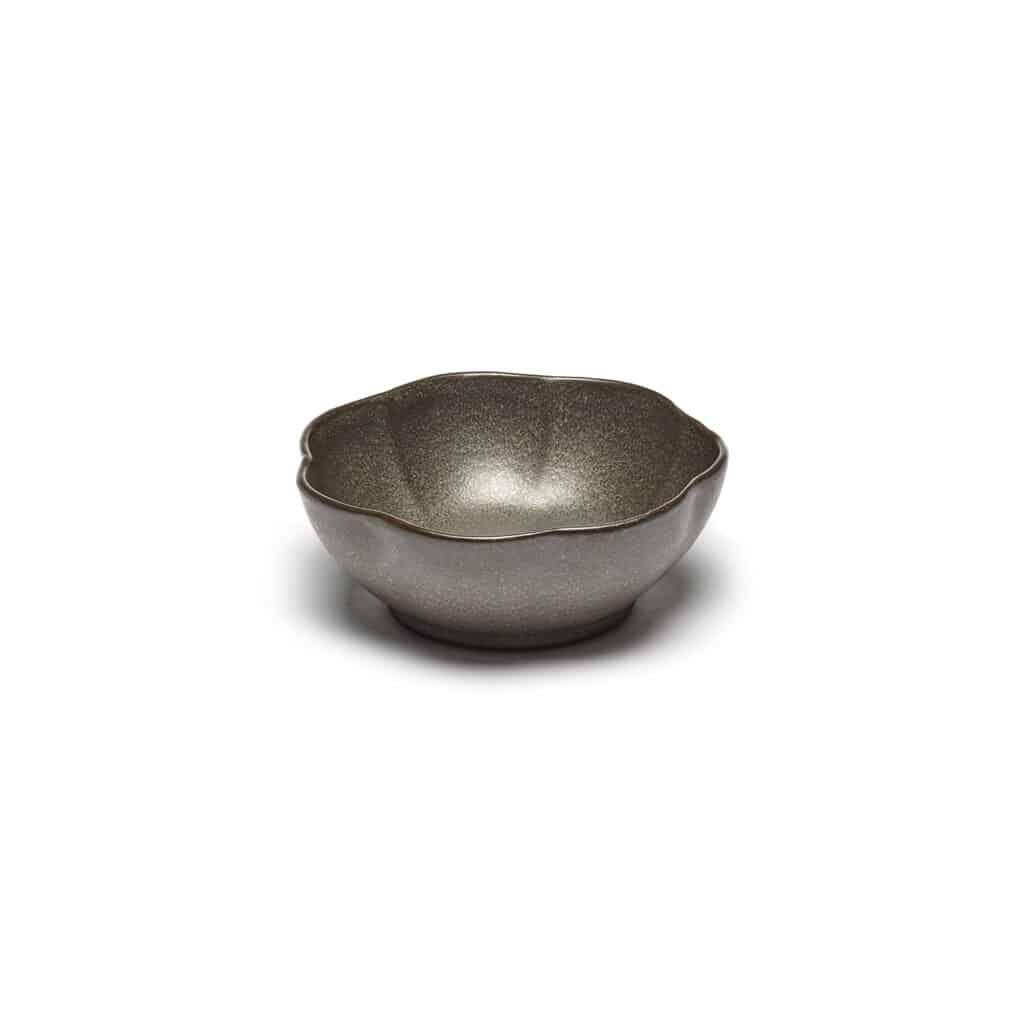 Set of 4 Inku Bowls Ribbed L Green