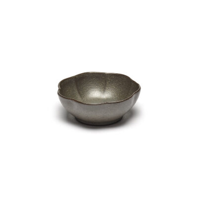 Set of 4 Inku Bowls Ribbed L Green