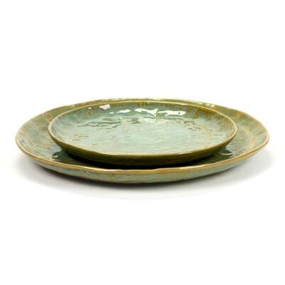 Set of 2 Seagreen Ceramic Pure Plates 28cm
