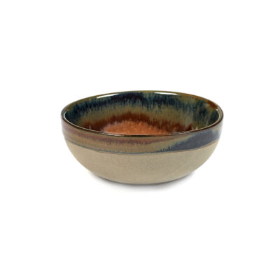 Set of 4 Surface Bowls Rusty Brown 11cm