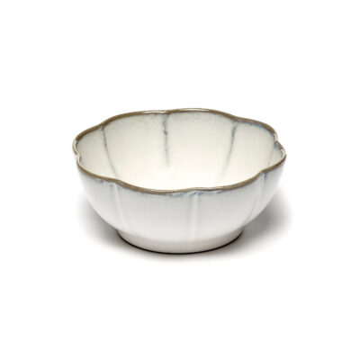 Set of 2 Inku Bowl Ribbed XL White