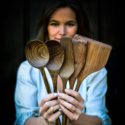 Set of 5 Pure Wooden Kitchen Tools