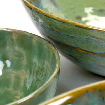 Seagreen Ceramic Pure Salad Bowl 20cm