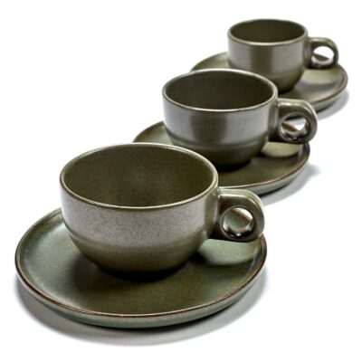 Set of 2 Surface Lungo Cups Camo Green