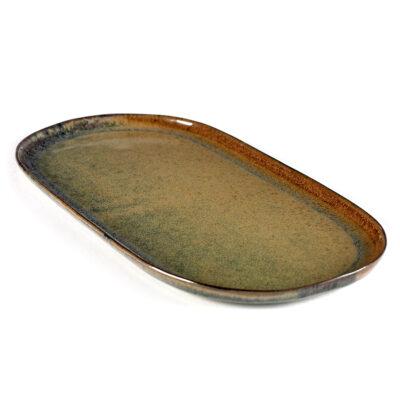Set of 2 Surface Tapa Plates L Indi Grey