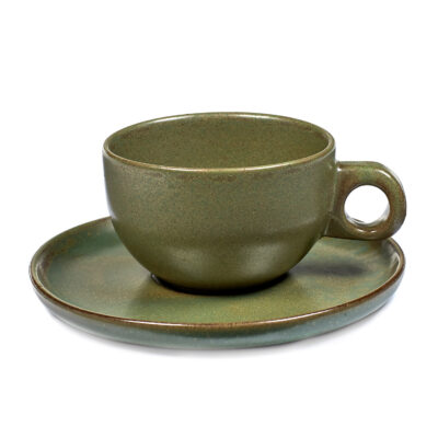 Set of 2 Surface Cappuccino Cups Camo Green