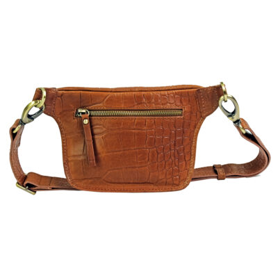Becks Bum Bag Croco Cognac