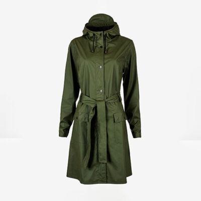 Rains Curve Jacket Green