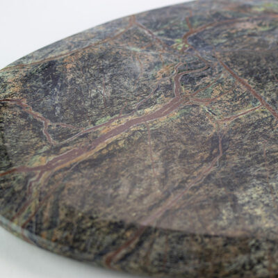 Large Green Forest Marble Plate