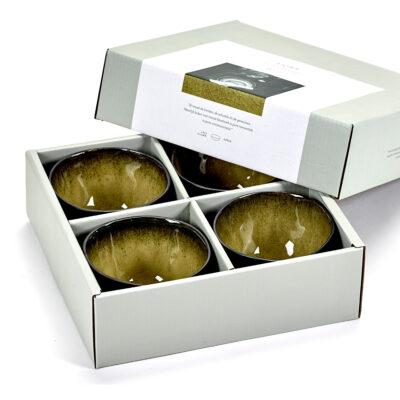 Set of 4 Medium Pure Bowls Green