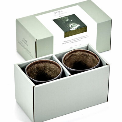 Set of 2 Pure Cups Grey