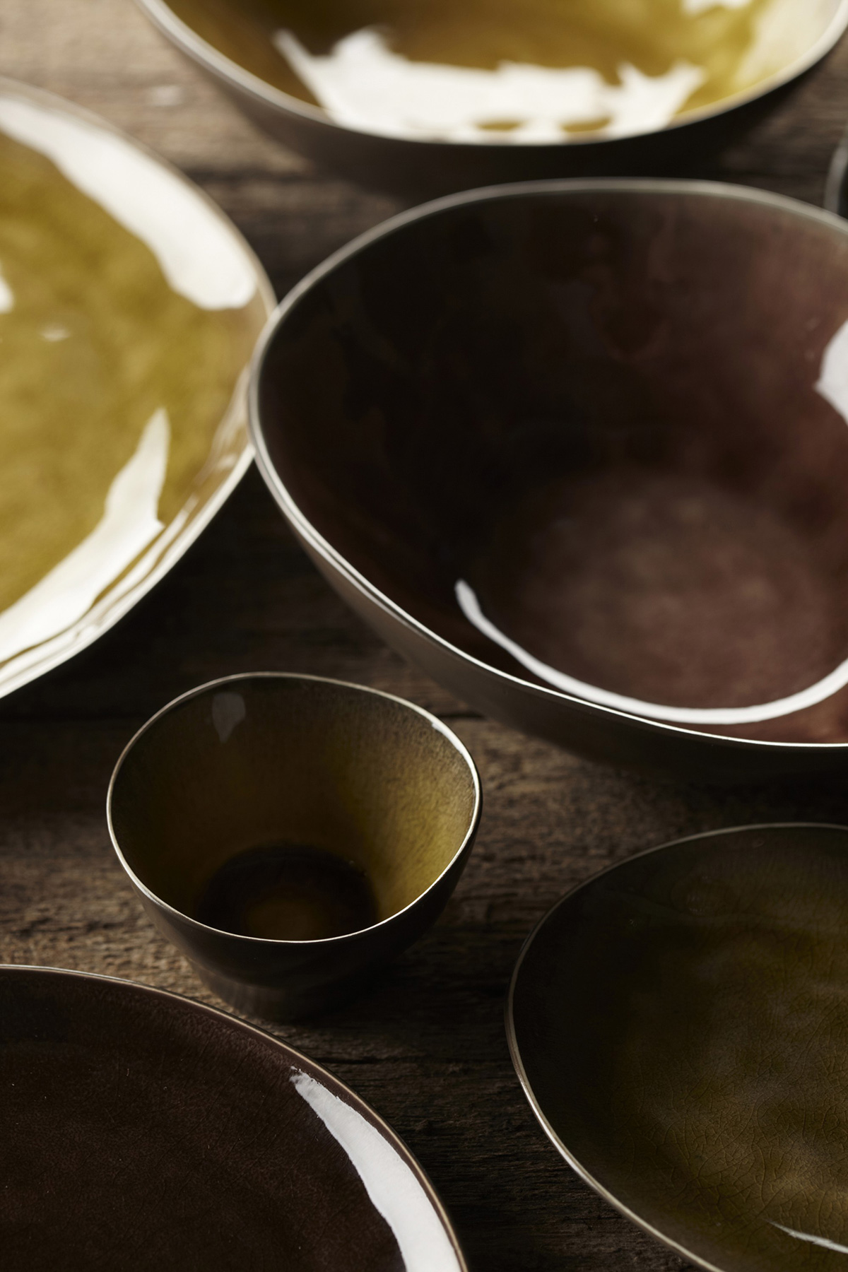 Margareta Concept Store   Set Of 20 Medium Pure Bowls Green