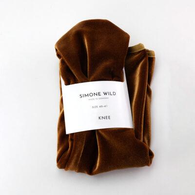Velvet Knee Socks Gold