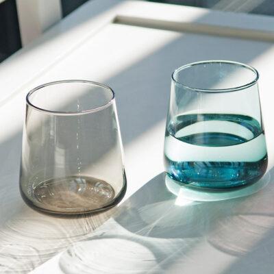 Set of 4 Host Glass Water Smoke Grey