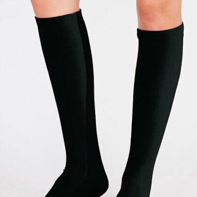 Velvet Knee Socks Black