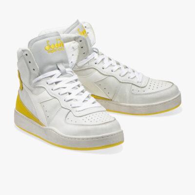 Diadora Heritage Mi Basket White Empire Yellow
