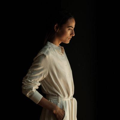 Charlotte Dress Off White