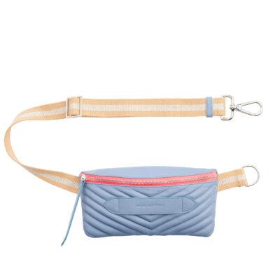 Coachella Quilted Blue Denim Belt Bag