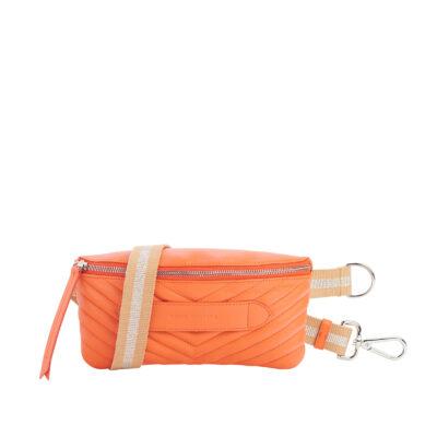 Coachella Quilted Orange Belt Bag